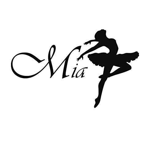 WallTattooHome Decal Ballet Ballerina Vinyle Dance Studio Girl Bedroom Nursery Baby Room Home Decor EG20 by WallTattooHome