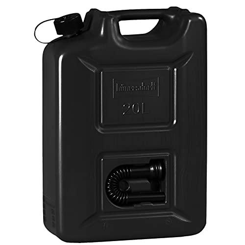 Hünersdorff Kraftstoffkanister 20 L Black Edition - Benzinkanister Kraftstoff Kanister mit UN-Zulassung für Diesel & Benzin