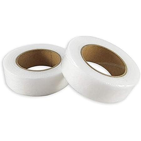 MIZOMOR 3 Pezzi Nastro Termoadesivo Nastri Termoadesivi per Orlo,Tessuto Orlo Rapido Adesivo per Tende Nastro Adesivi Tessuti per Vestiti Pantaloni Patchwork