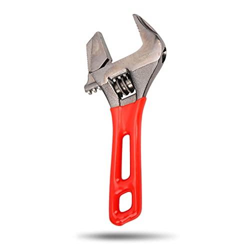 Llave ajustable de mandíbula ancha, llaves ajustables de acero aleado CR-V de 30 mm / 1,2', para espacios estrechos: mangueras de metal, grifos, tuberías de gas, lavabos, etc.