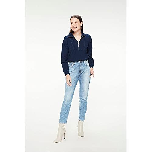 Calça Mom Jeans Feminina Tam: 40 / Cor: BLUE