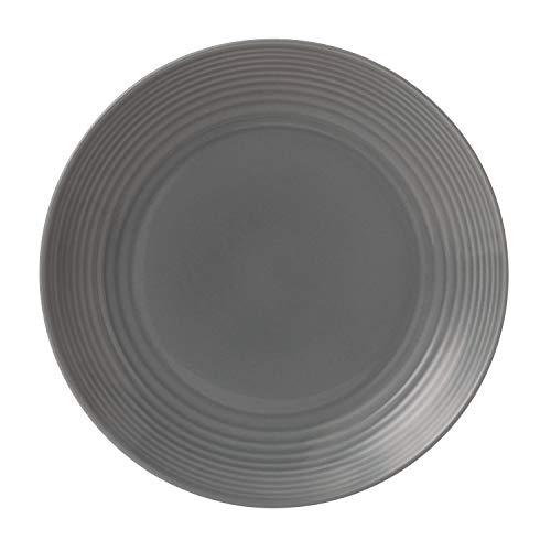 Royal Doulton Maze Dark Grey Dinner Plate, 11', Gray