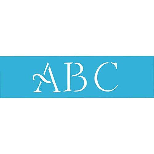 DecoArt 6-Inch-by-18-Inch Stencil Home Decor Series, 3-Inch Simple Script Alphabet