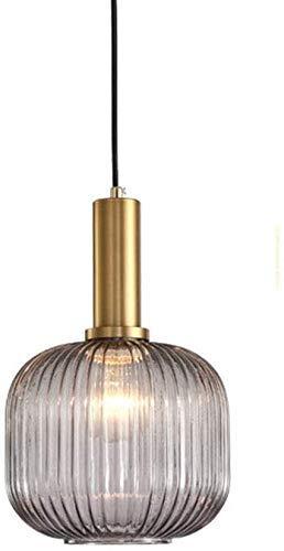 Lámpara colgante de vidrio accesorio de lámpara de araña moderno nórdico altura ajustable de hierro forjado lámpara colgante pantalla Edison E27 lámpara de techo para dormitorio 20 c