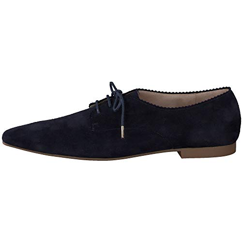 Paul Green Damen SUPER Soft Schnürer 2621, Frauen Businessschuh, elegant weibliche Lady Ladies feminin Women's Women Woman,BLAU/Honig,6.5 UK / 40 UK