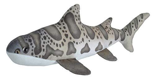 Wild Republic Leopard Shark Plush, Stuffed Animal, Plush Toy, Gifts for Kids, Living Ocean, 12'
