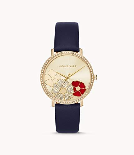 Michael Kors Women's Jaryn Navy Leather Watch MK2726