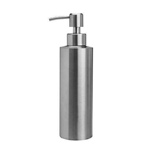BSTOB Botella de loción de Acero Inoxidable, Botella de loción de Acero Inoxidable Dispensador de líquido Tipo Bomba Botella de jabón Manual