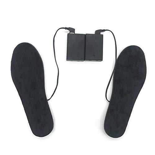 Fancylande Verwarmbare inlegzolen met accu, USB, elektrische thermozolen voor skischoenen, zolen, thermische zolen, schoenwarmer, elektrisch, uniseks, wandelen