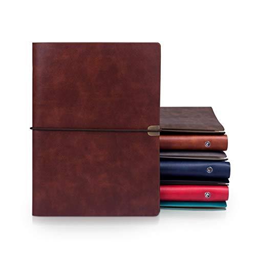 Escuela -A5 planificador de la agenda Organizador 2020 B5 Nota libro Diario de viaje Diary 6 Carpeta del anillo del cuero portátil cubrir el cuaderno espiral trabajo (Color : Gray, Size : B5)
