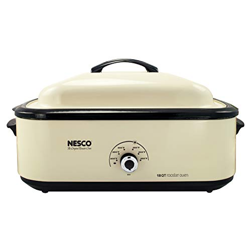 Nesco 4818-14 Classic Roaster Oven, 18-Quart, Porcelain Cookwell,...