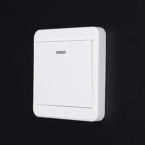 Switched Electrical Push Button Switch Remote Control Switch 86 Wall Panel 315MHz Wireless 1/2/3 Way (Style: : #1)