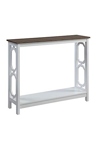 Convenience Concepts Omega Console Table, Driftwood Top /...