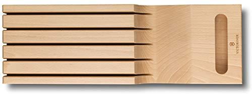 Victorinox lade-inzetstuk van hout voor messen, 5 meshouders, opbergsysteem, 43 x 14,5 x 6,2 cm
