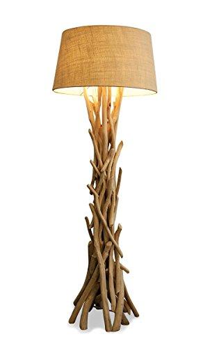 levandeo Lampe 97046 Stehlampe 155cm hoch Holz Holzlampe Unikat Natur Treibholz Handarbeit Stehleuchte