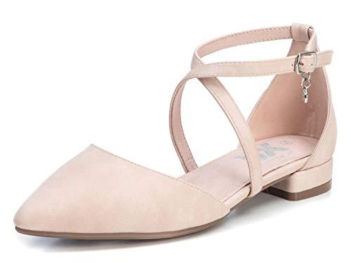 XTI Damen 35191 Geschlossene Sandalen, Pink (Nude Nude), 39 EU