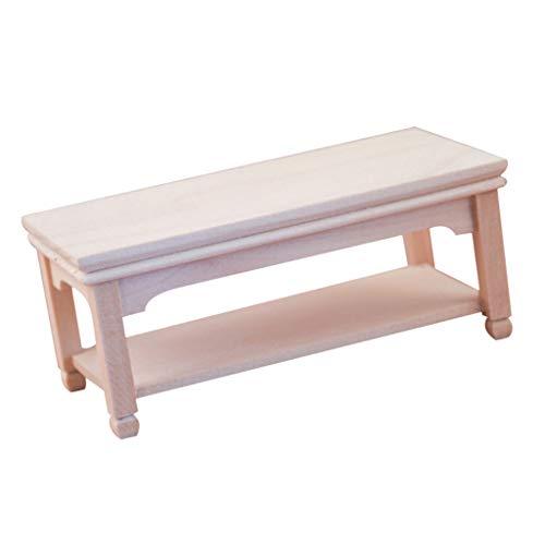 freneci 1:12 Tavolino da tè Lungo in Legno Tavolino da caffè Miniature per Casa delle Bambole Arredamento per Mobili