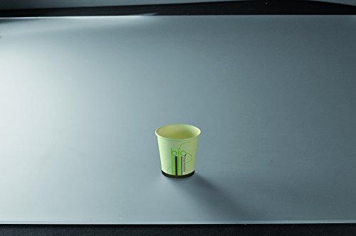 Adiserve 50 gobelets café Blanc Biodégradable 10cl