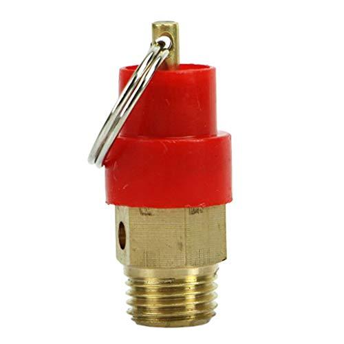 gazechimp Sicherheitsventil 1/8, Rot Überdruckventil für Luft-Kompressor, Chemische Industrie