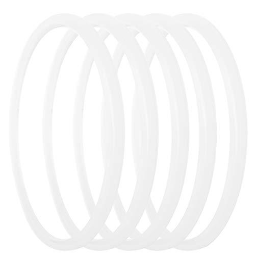 Tissting 5 Uds. Anillo Sellado para Olla A Presión Silicona Transparente En Forma O Anillo Sellado para Olla A Presión Accesorios para Olla A Presión Cocina para El Hogar(24cm)