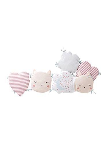 Vertbaudet Bettumrandung Traumwolke für Babyzimmer rosa Bedruckt 180X30
