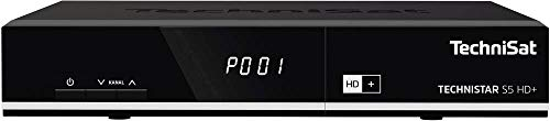 TechniSat TECHNISTAR S5 HD+ - HDTV Sat Receiver (HD+ integriert mit 6 Monate Guthaben, PVR Aufnahmefunktion, HDMI, CI+, Ethernet, USB, vorinstallierte Programmlisten, Unicable tauglich) schwarz