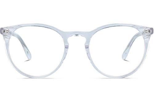Brille mit wählbare Sehstärke (inkl. Zylinder) | Grande Rotondo | Runde Brille aus Italienischen Acetat | Weiß | Charlie Temple