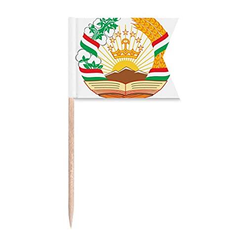 Tadschikistan Asien Nationalemblem Zahnstocher Flaggen Kennzeichnung für Party Kuchen Lebensmittel Käseplatte