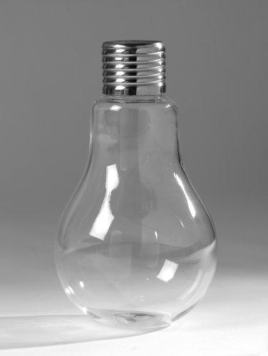 Serax - Vase in Glühbirnenform - Edison - Glas - Chrom - Höhe 16 cm