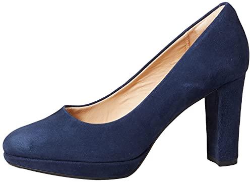 Clarks Kendra Sienna, Zapatos de Vestir par Uniforme Mujer, Azul (Blue Marine), 39 EU
