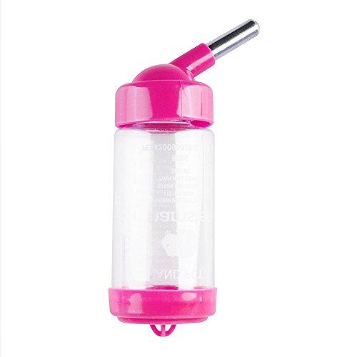 吊り下げ式吸水ボトル マルチボトル80mlPet Homeハムスター シマリス モモンガ等に水飲み器 涼しい部屋 ls-080 (バラ)