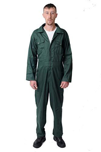Mono de polialgodón para hombre de fábrica para calderas de garaje, mecánico, para limpieza de jardín, uniformes de trabajo, con múltiples bolsillos y cintura elástica