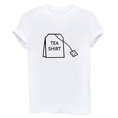 Funny Junior Graphic Tee Top Women Girl Short Sleeve Cotton Shirts Cute Blouse
