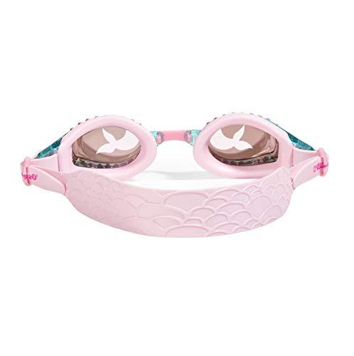 Bling 2O Kids Swimming Goggles - Pink Rhinestone Mermaid Design Goggles for Girls - Ages 3+ Anti Fog, No Leak, Non Slip, UV Protection - Hard Travel Case - Lead and Latex Free (Jewel Pink Mermaid)