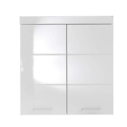 trendteam smart living Badezimmer Hängeschrank Wandschrank Amanda, 73 x 77 x 23 cm in Weiß / Weiß...