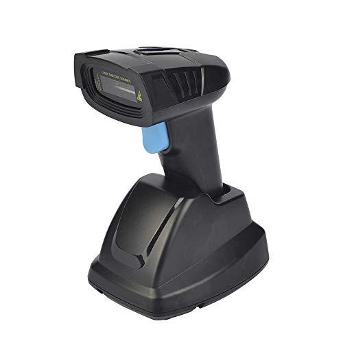 QIYUE Sans fil Barcode Scanner avec support, 2.4G Scanner Barcode Scanner code USB de stockage Scanning Gun 3mil paiement de code à barres rechargeable