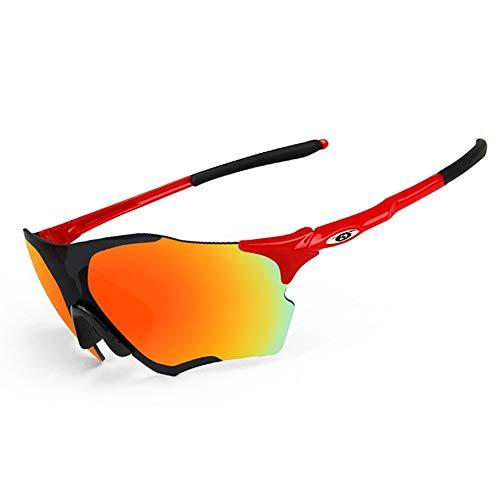 Contiene cinco lentes. Material resistente a los golpes Ideales para practicar ciclismo Gafas deportivas Gafas polarizadas modernas Opel-R