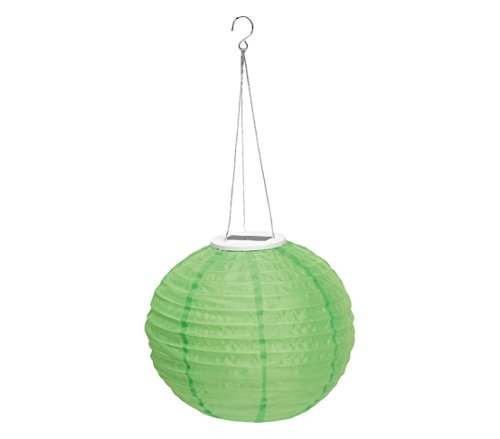 Dehner Solar Lampion Ø 28 cm, Nylon, grün
