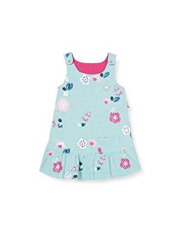 Sigikid Baby-Mädchen Wendekleid aus Bio-Baumwolle, Größe 062-098, spielerisches Hangtoy Kinderkleid, Hellblau/Pink, 86