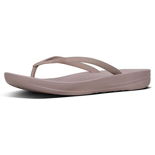 FitFlop Women's iQushion Ergonomic Toe Thong Sandals Flip Flops, Mink, 7