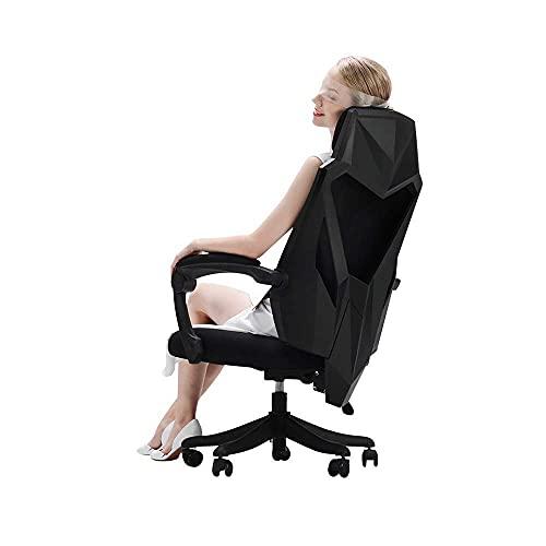 n.g. Wohnzimmerzubehör Stuhl Computerstuhl Liege Esports Spielstuhl Sitz Ergonomischer Drehstuhl Bürostuhl Tragfähigkeit: 330lbs Schwarz