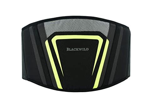 BLACKWILD Nierengurt Motorrad | nierenwärmer Lendenwirbelstütze Nierengurt, Effektive Stabilisierung | Nierengurt Motorrad Herren und Damen, fluoreszierendes grau (L = 100-110cm Bauchumfang)