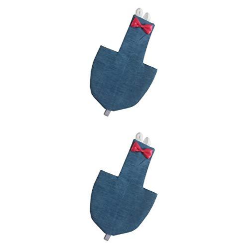 2 X Disfraz de Loro Ajustable Traje De Vuelo De Paal para Mejilla Verde Conure Periquito Cacatas Palomas Y Otras Aves - Tela De Mezclilla