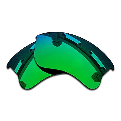 SYEMAX Lentes de repuesto polarizadas para espejo compatibles con Oakley Half Jacket 2.0 XL (OO9154) Sunglass - Múltiples opciones, (Verde zafiro polarizado), Talla única