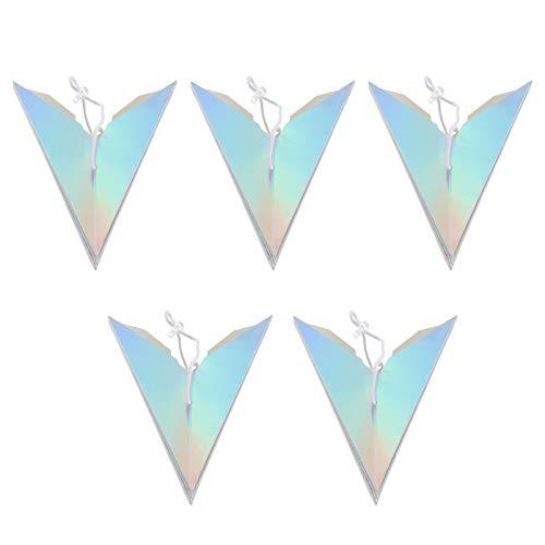 GARNECK 5 Unids Papel Estrella Cubierta de La Lámpara Sombra Colgante Papel de Origami Holográfico Estrella Poligonal Pantalla 3D Estrella 30 Cm para Luz Led Decoración de Fiesta de
