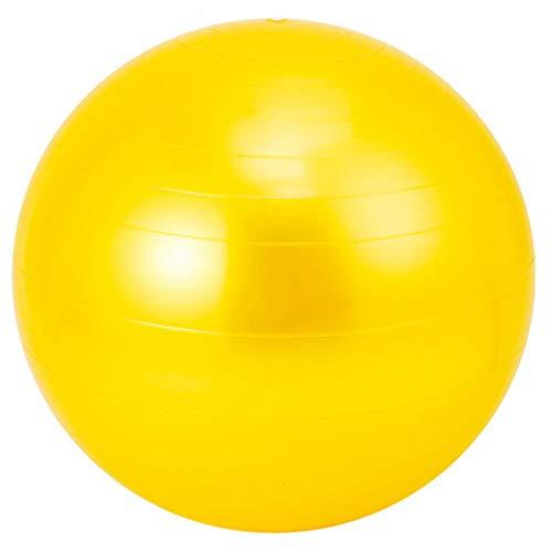 Bola de Yoga Bola de Yoga Fitness Gimnasia Bola Sensor de Entrenamiento Integral, PVC Yoga Ball Diámetro 95 cm,Amarillo