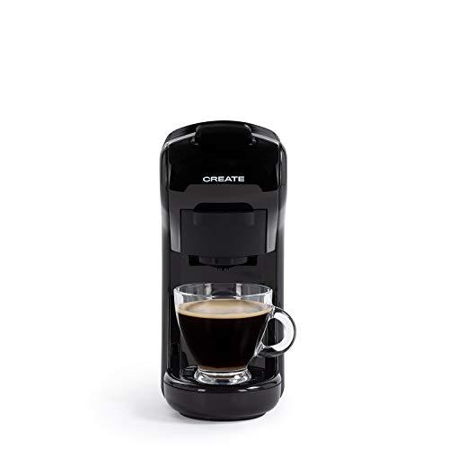 CREATE IKOHS Máquina de Café Espresso Italiano - Cafetera Multi Cápsulas Compatible Nespresso 3 en 1, 19 Bares con 2 Programas de Café, deposito extraíble, 0,6 L, 450 W (Negro)