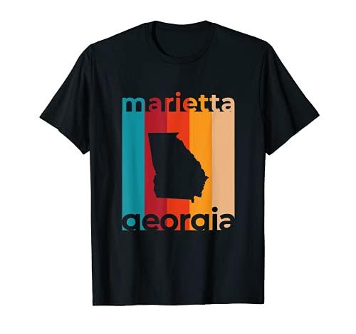 Marietta Georgia Retro Recorte GA Souvenir Camiseta