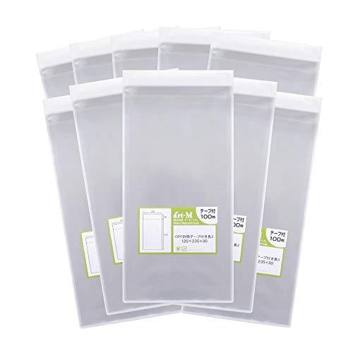 【国産】テープ付 長3【 A4用紙3ッ折り用 】透明OPP袋(透明封筒)【1000枚】30ミクロン厚(標準)120x235+...