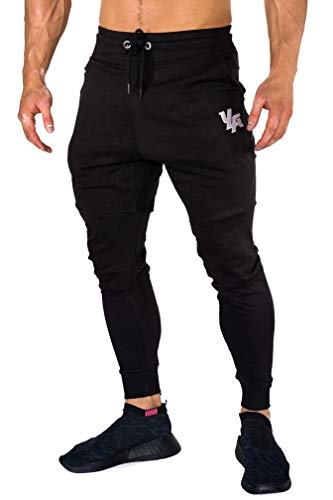 YoungLA Joggers Men Slim Fit Sweatpant Gym Workout Zipper Pocket 202 Black Large